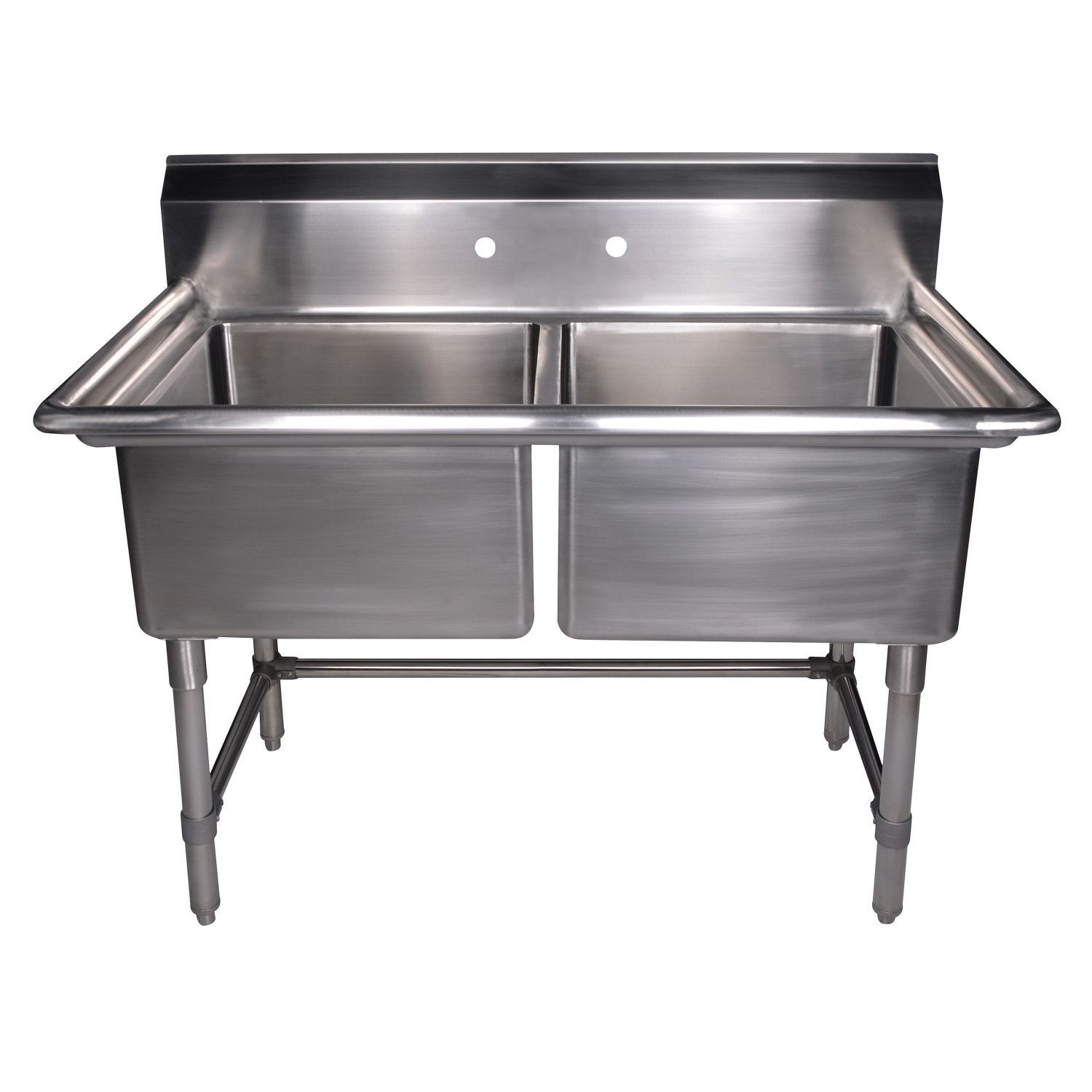 Buy Whitehaus Whlsdb4020 Np 40 Brushed Stainless Steel Two Bowl