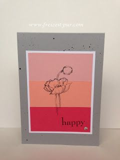 Stampin'Up! Color Blocking, Natur Nah, Happy Day  Stempel ... Freizeit ... pur