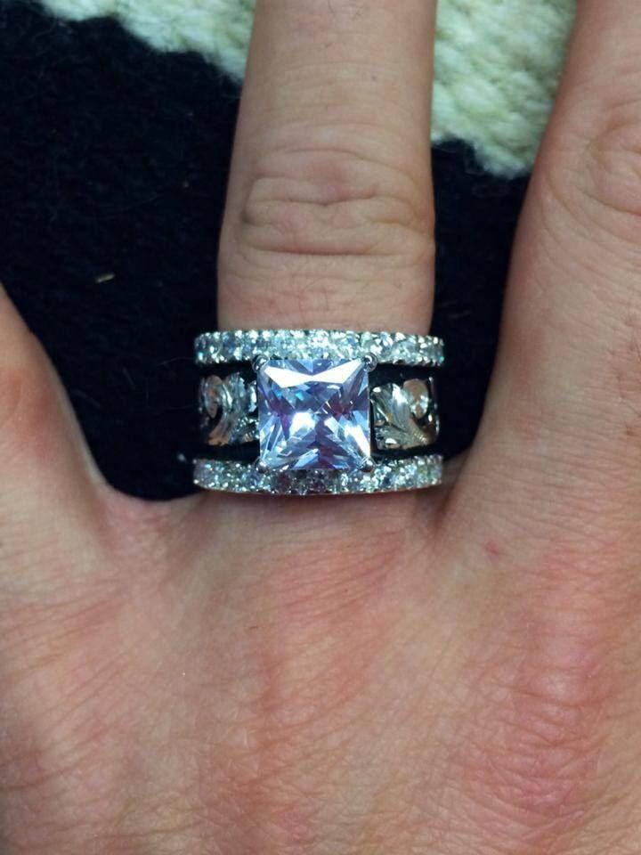 Pin By Kimberlie Sisson On Wedding Western Rings Unique Fashion Rings Western Wedding Rings