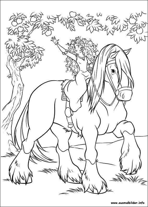 merida  legende der highlands malvorlagen  horse