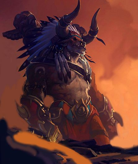 baine bloodhoof escalation patch concept art fantasy in 2018