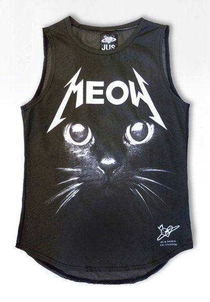 31fa179720a010 Cat shirt womens tshirt rock tshirt Meow shirt by PLASTICJUS