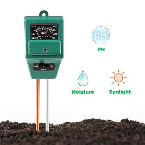 Surenhap PH-mètre de sol, capteur du0027humidité 3-en-1   Test de - hygrometrie dans une maison