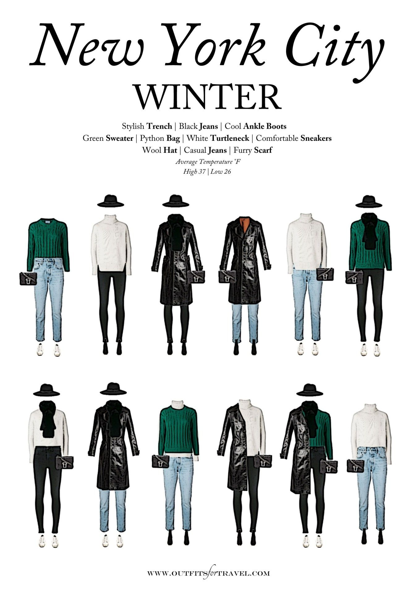 What to Wear to New York City in the Winter - Outf