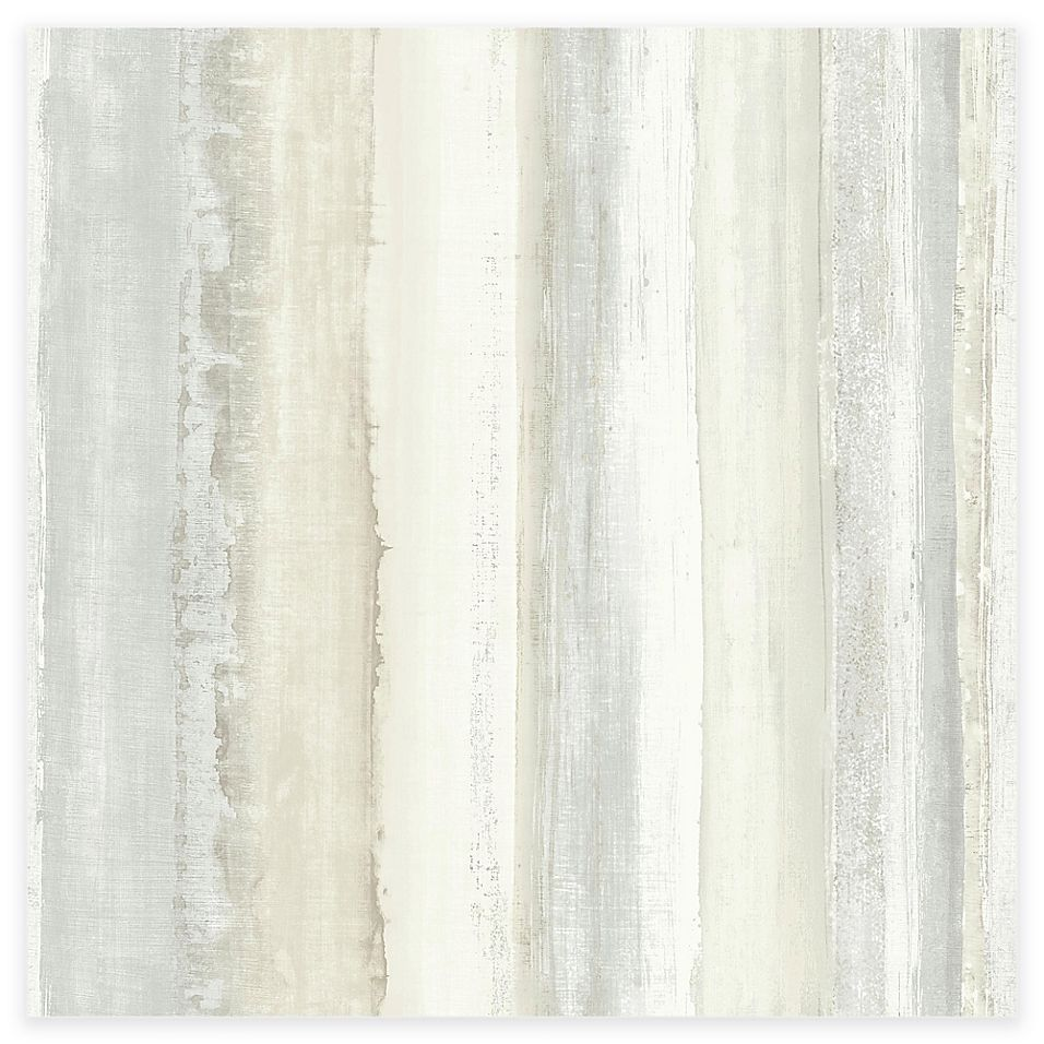 Roommates Watercolor Stripe Peel Stick Wallpaper In Tan Peel And Stick Wallpaper Wood Wallpaper Peelable Wallpaper
