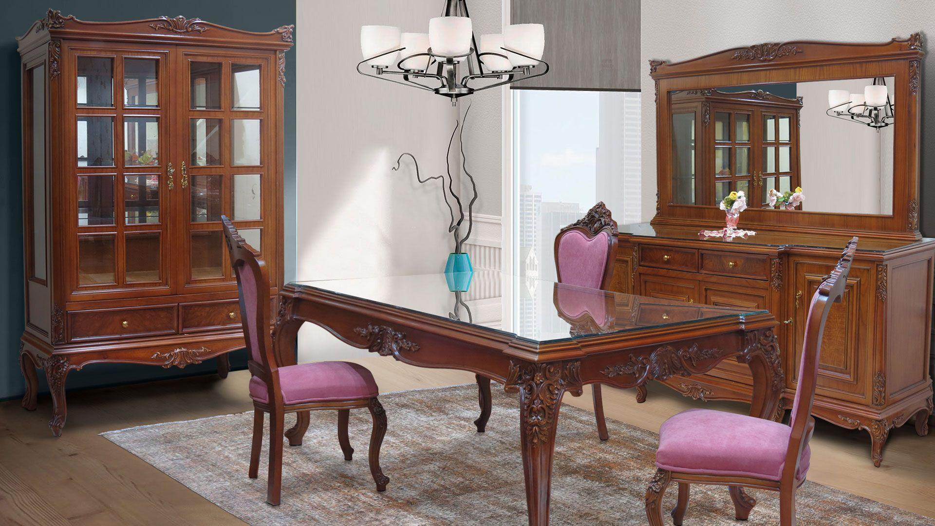 غرفة سفرة كلاسيك Ramona Classic Dining Room Room Furniture