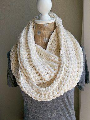 Chunky Crochet Scarf Cream Crochet Pinterest Sjaal Haken And