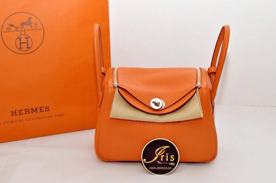 """กระเป๋า HermesLindy 26 Clemence in FEUPHW """"Stamp T"""" ของใหม่พร้อมส่ง‼️ - Iris Shop"""