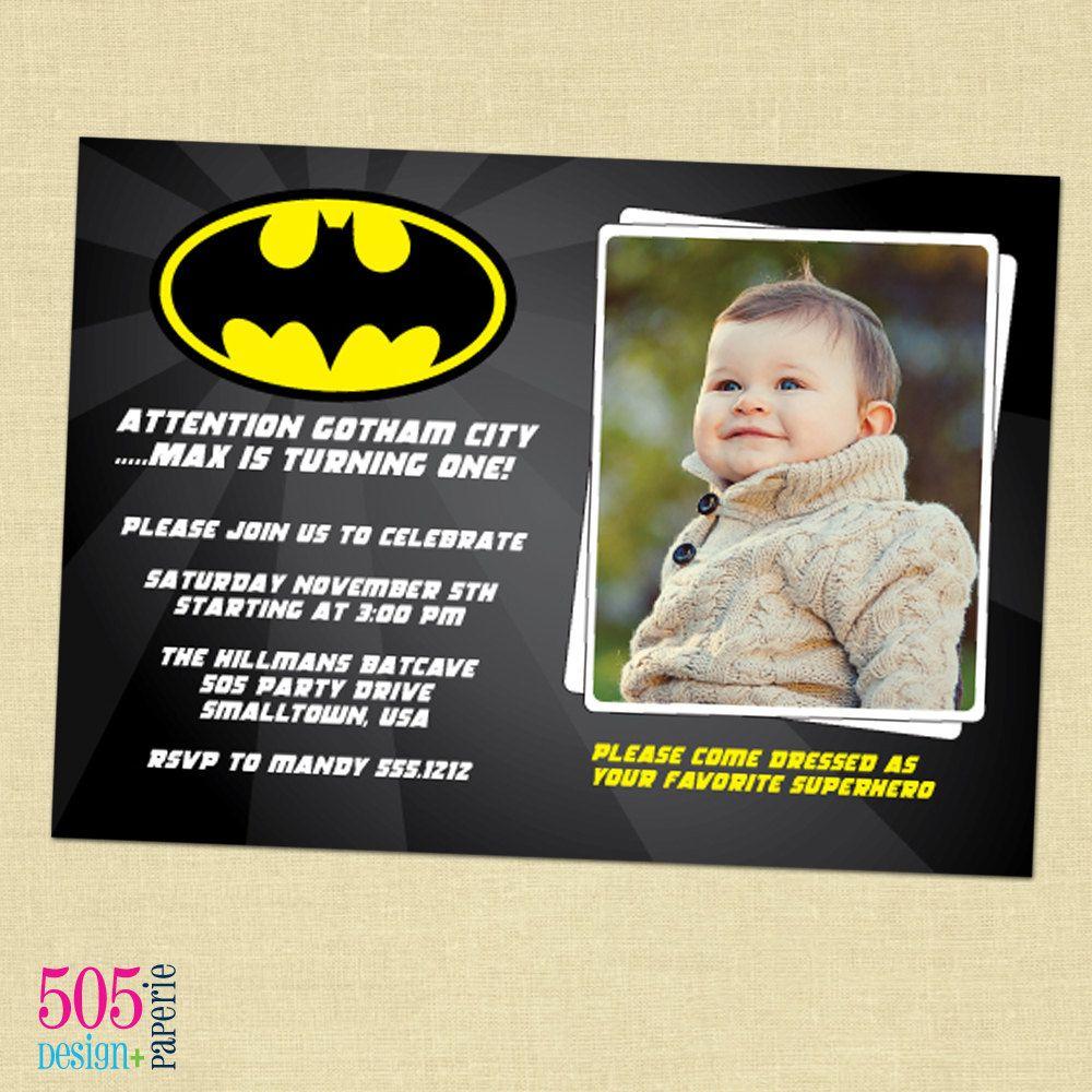 Batman Invitation Wording