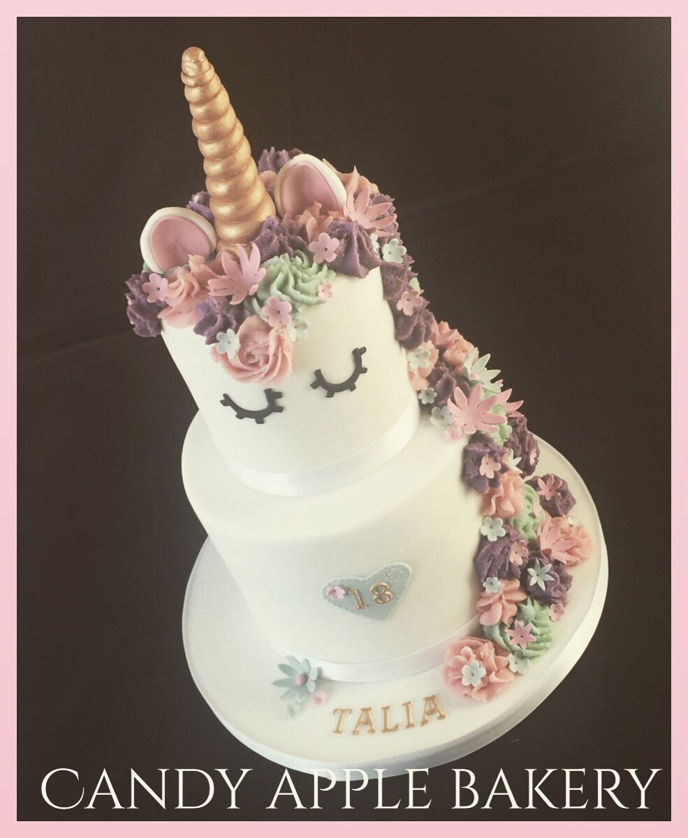 2 Tier Unicorn Cake Food Pinterest Cake Unicorn Birthday And
