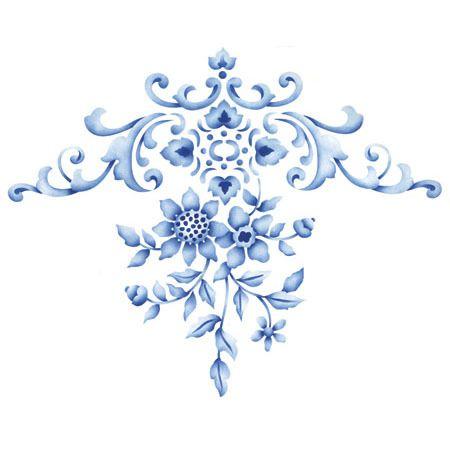 Floral Embroidery Centerpiece Stencil Broder, Motifs et Broderie