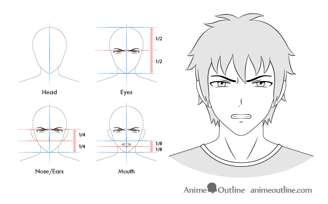 Anime Male Angry Facial Expression Anime Guys Facial Expressions Smile Drawing
