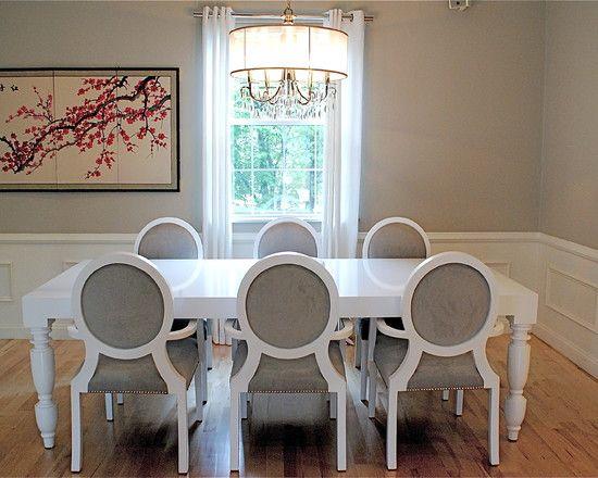 Oltre 25 fantastiche idee riguardo sedie bianche su - Tende da sala da pranzo ...