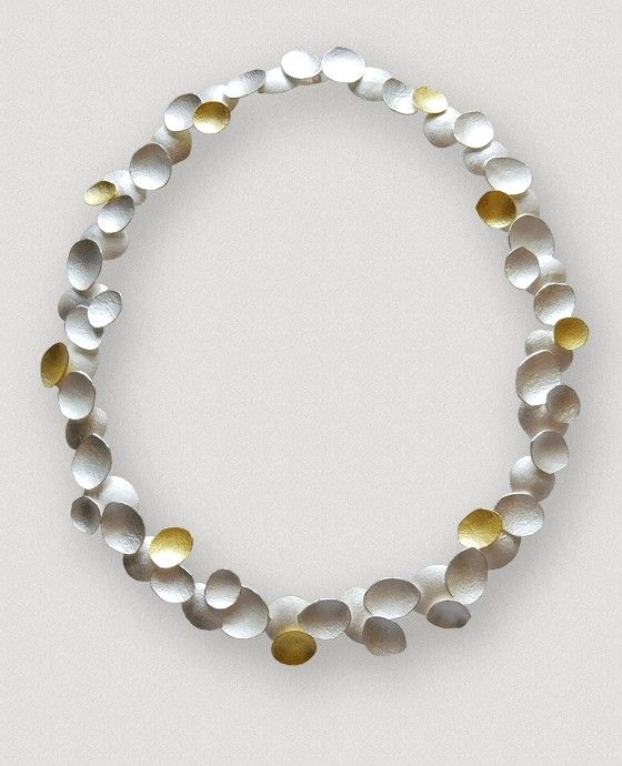 Petal Necklace 18 Ct Gold Silver By Kayo Saito Whose Work Is Influenced By Plants Organic Forms Thro Minimalist Jewelry Art Jewelry Contemporary Jewelry