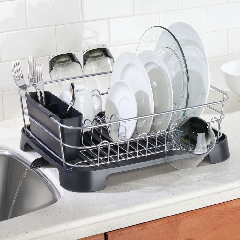 Interdesign Classico Dish Drainer For Kitchen Countertop With