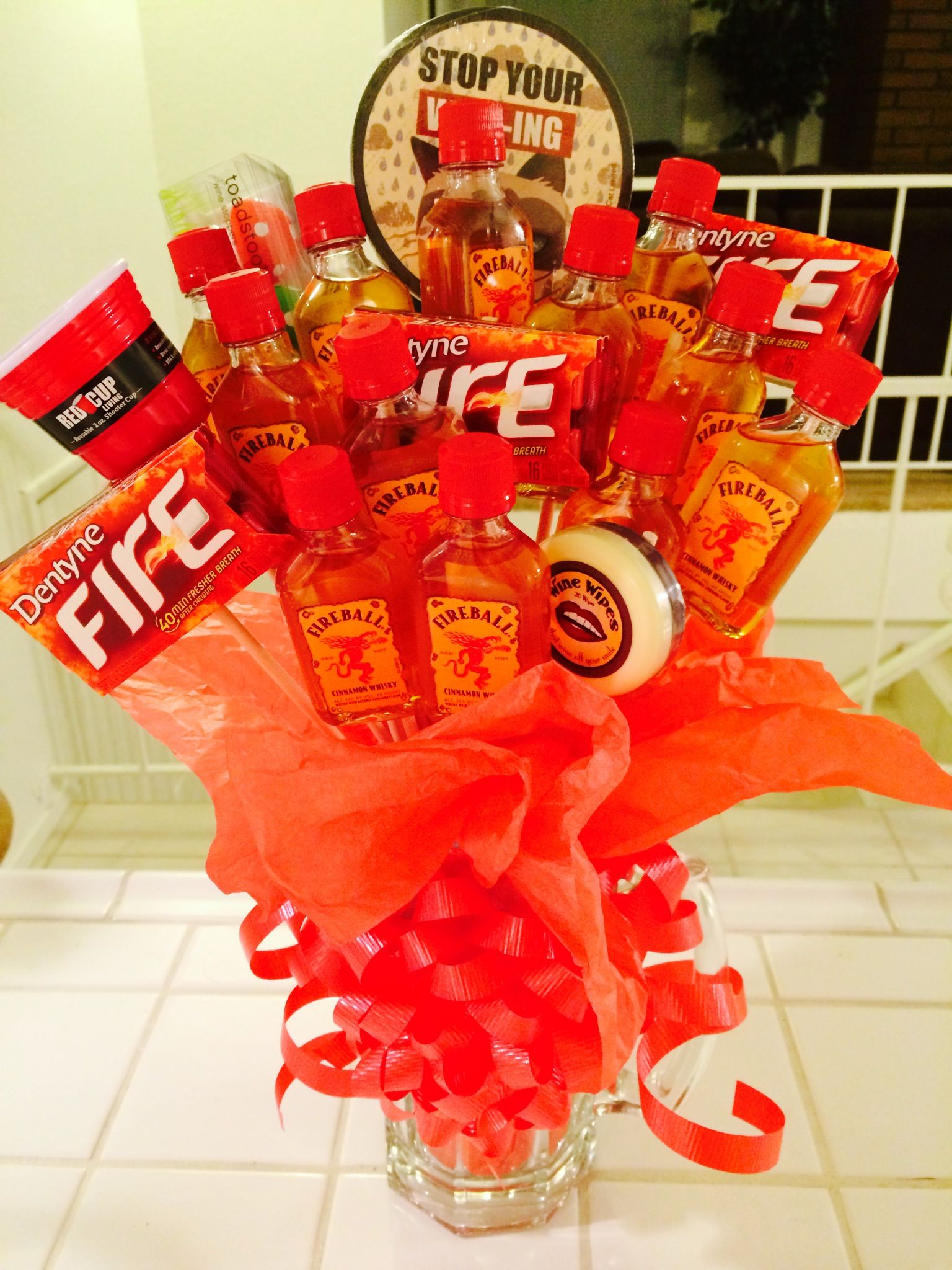 Fireball man bouquet perfect for valentines day his