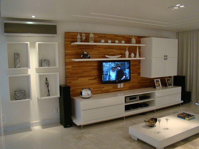 wooden pannel w white furniture