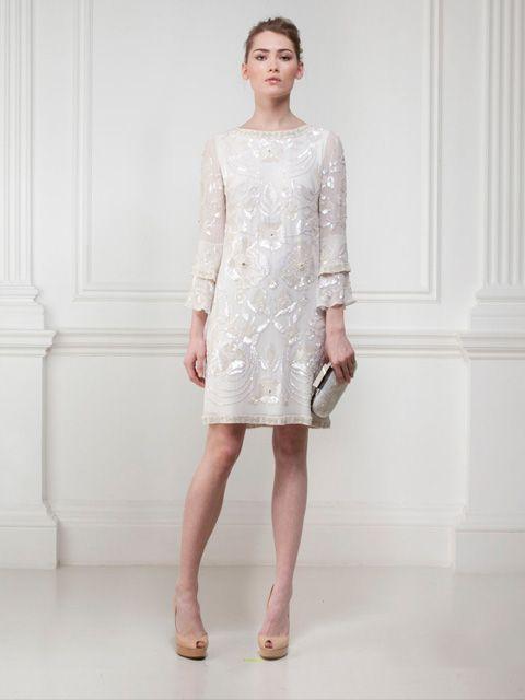 Vestido de Novia Corto con Apliques -- Matthew Williamson | matri ...