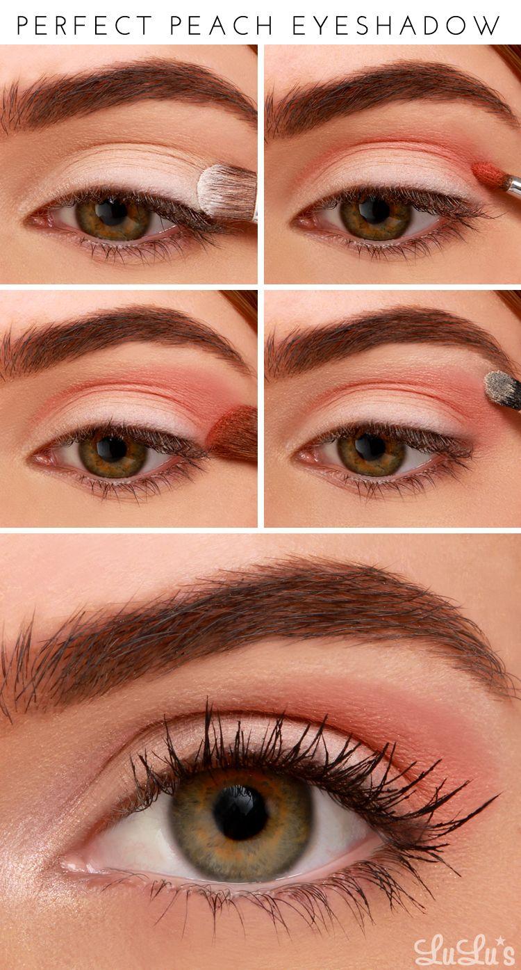 Lulus How-To: Perfect Peach Eyeshadow Tutorial   Beauty