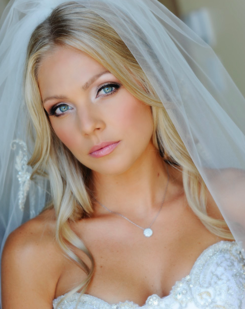 Flawless Beauty By Flawlessfacesinc.com Wedding Makeup Undo Pink Lips Lashes Makeup Bride ...
