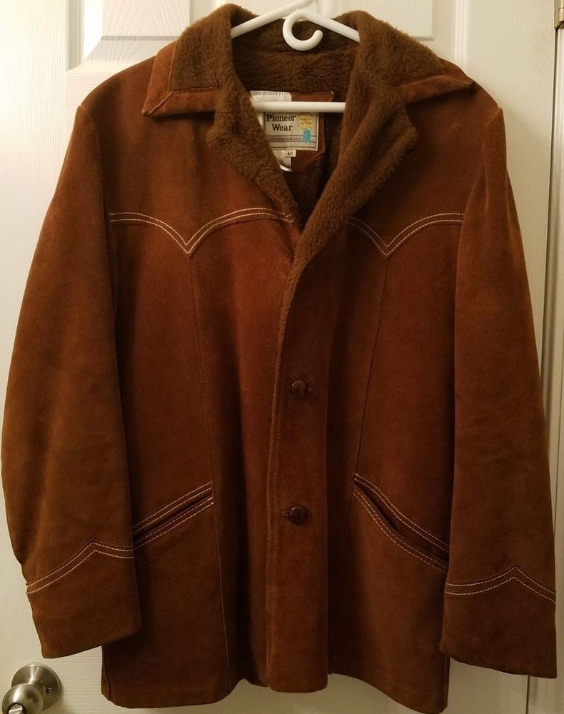 85b01efce79 Vintage Pioneer Wear Men s Suede Leather Jacket Cowboy Yellowstone Ranch  Size 40  PioneerWear  CowboyRanch