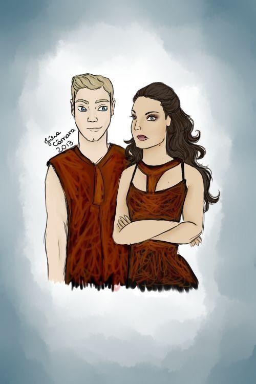 Hunger Gamed Fan Art / Katniss / Peeta / Finnick