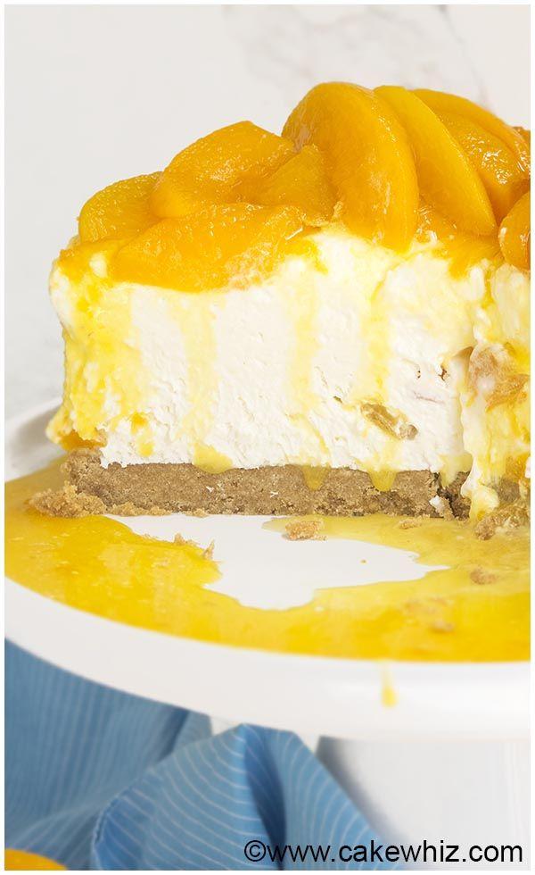 No Bake Peach Cheesecake Recipe 9 Baked Peach Peach Cheesecake Cheesecake Recipes