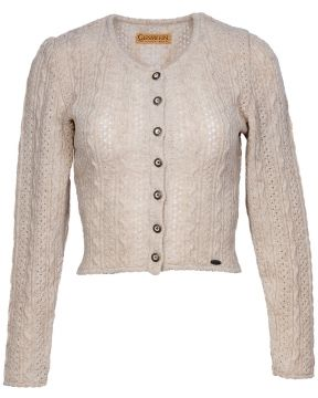 Silk&Pearls Naturfarbene Strickjacke