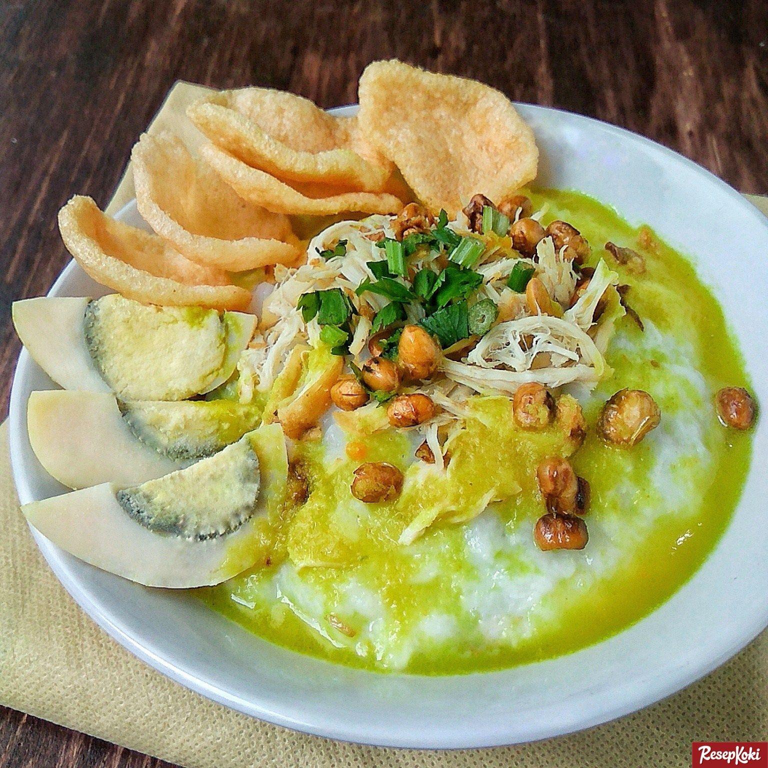 Bubur Ayam Jakarta Kuah Kuning Sedap Praktis Resep Resepkoki Resep Resep Resep Masakan Resep Masakan Asia
