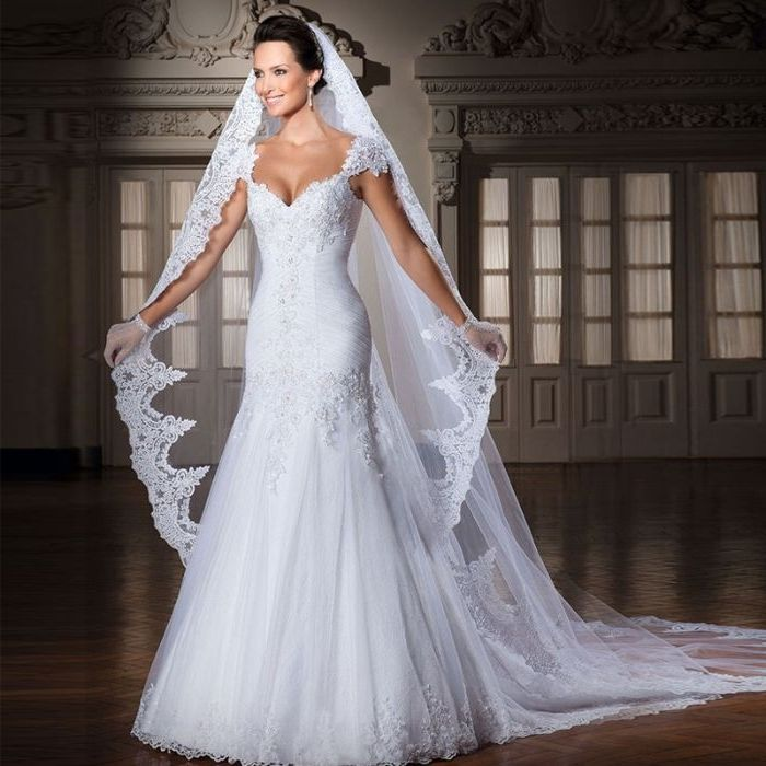 1001 + Ideen für faszinierende Brautfrisuren mit Schleier ...