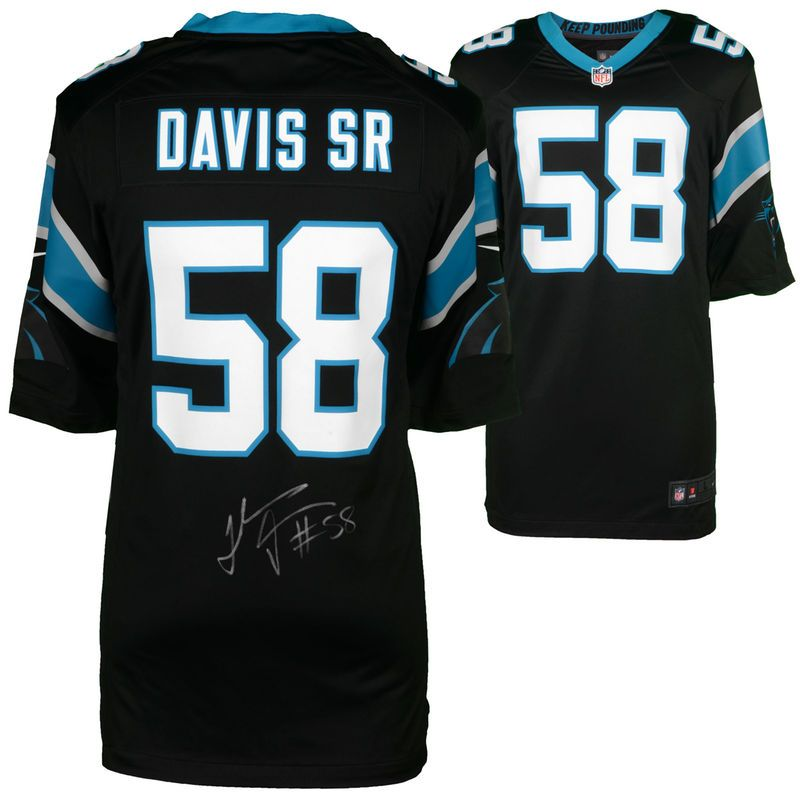 Thomas Davis Sr. Carolina Panthers Fanatics Authentic Autographed Nike  Black Game Jersey c614a2b18e0