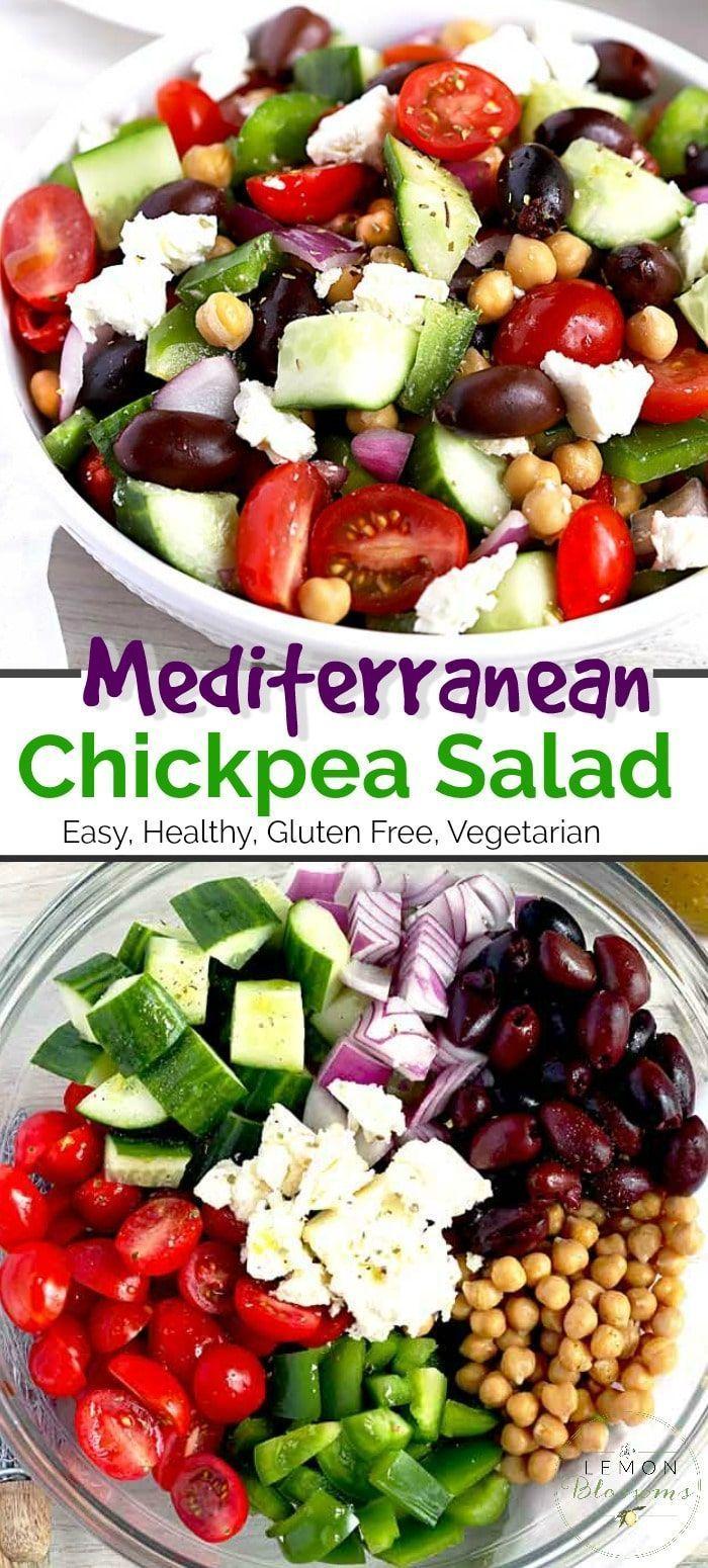 Mediterranean Chickpea Salad | Lemon Blossoms
