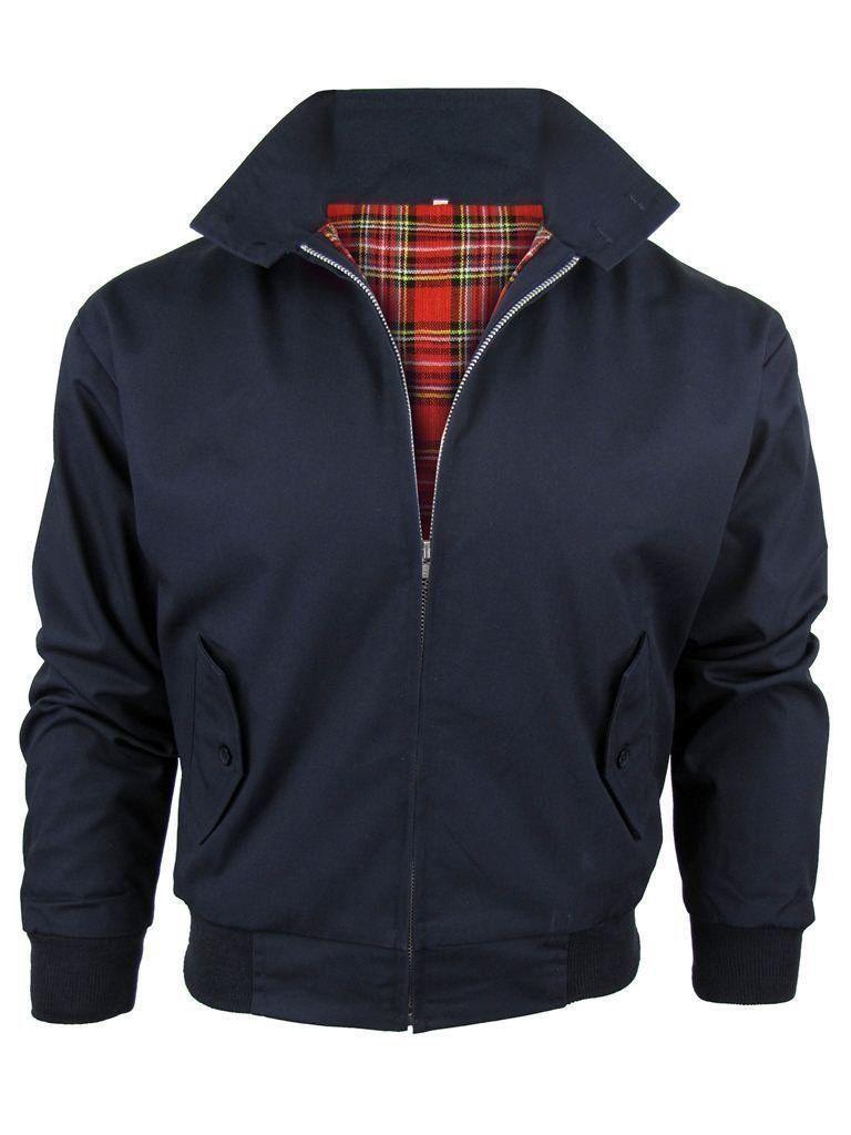 Mens Harrington Jackets New Classic Vintage Retro 70/'s Bomber jackets