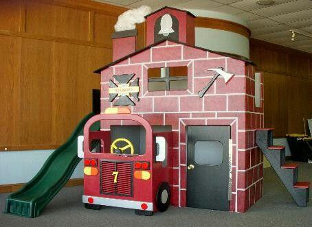 Firehouse Loft Bed Uniquekidbeds Com Boys Theme