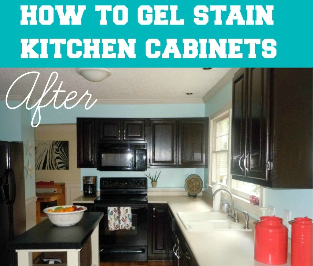 How To Gel Stain Your Kitchen Cabinets | For the Home | Pinterest ...