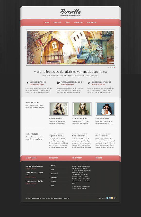 Boxville Wordpress Theme | Pinterest