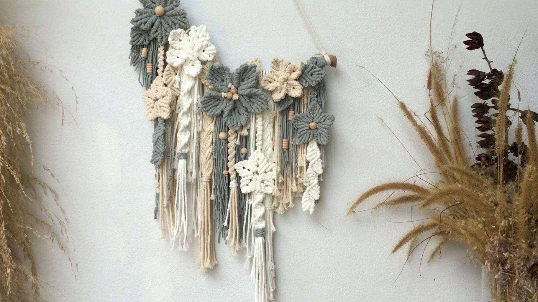 Flower Macrame Wall Hanging