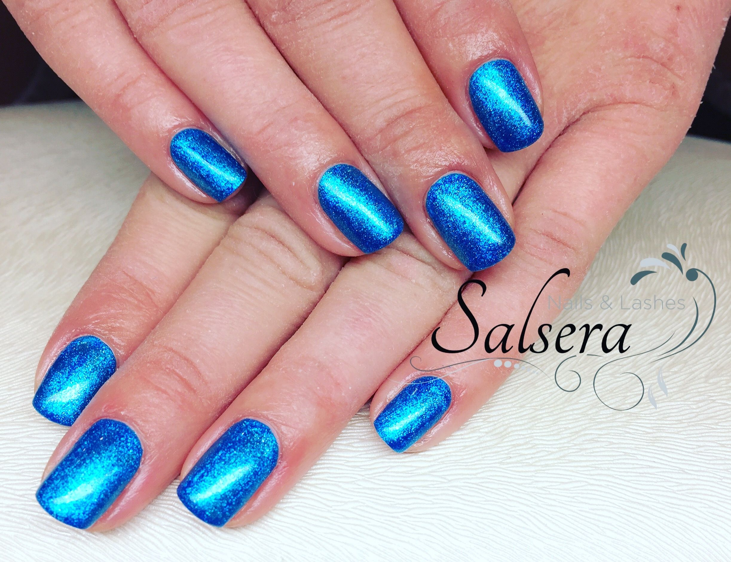Nails Nägel Nageldesign blau Fullcover Shortnails Salsera Nails ...