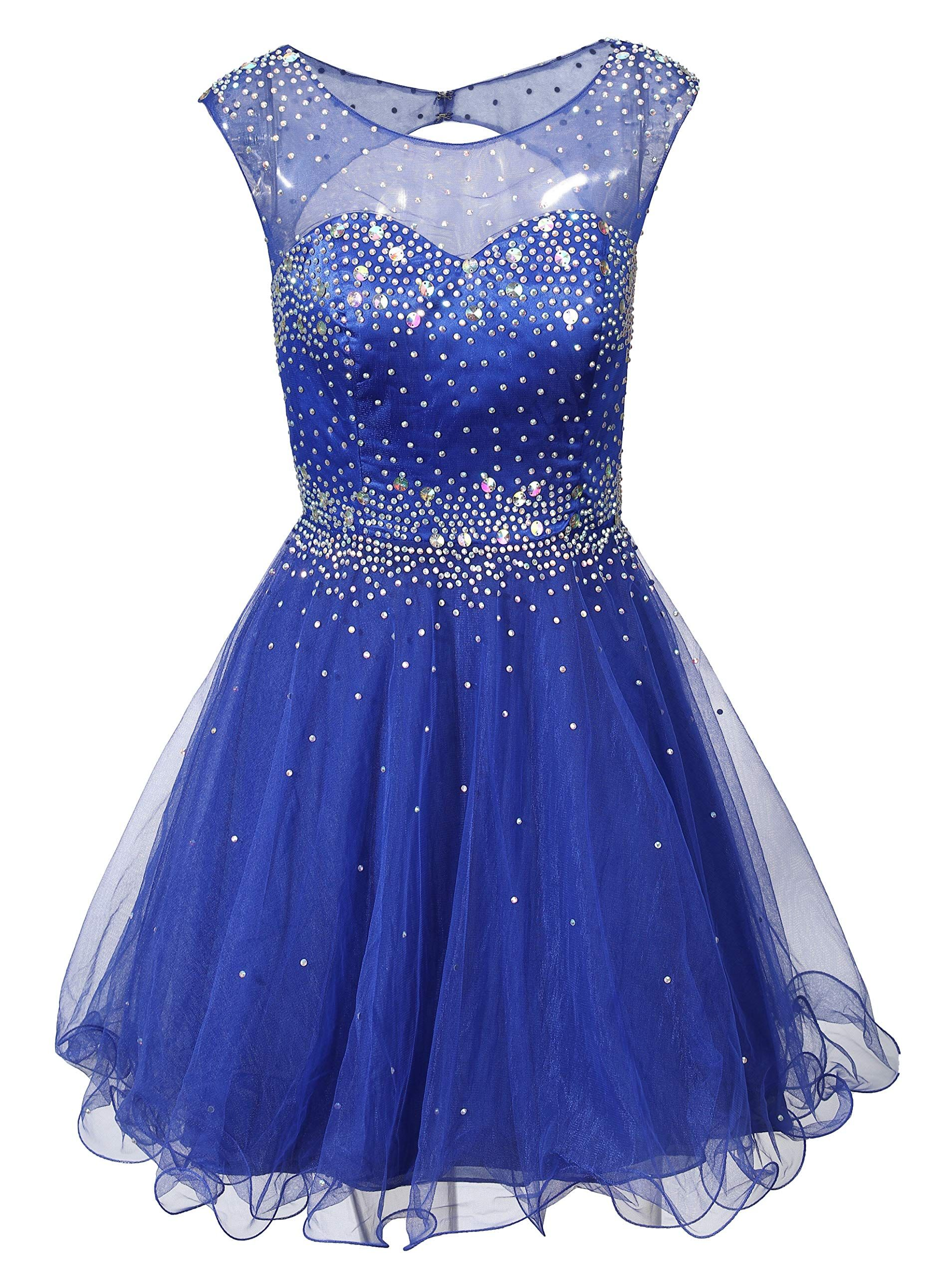 Mamilove Womens Short Beading Homecoming Dress For Juniors A Line Prom Ball Gown Size 10 Roya Homecoming Dresses Cheap Homecoming Dresses Fashion Clothes Women