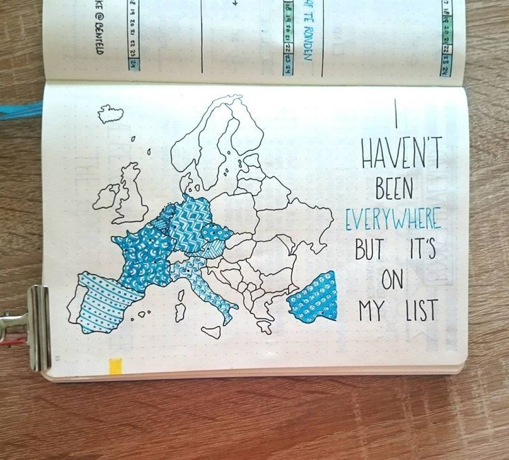 'I haven't been everywhere but it's in my list' This travellog is one of my favorite pages in my Bullet Journal