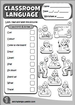 Hello Kids 1 - Classroom Language worksheet