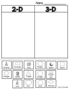 shape sort 2 d and 3 d education pinterest shapes math and kindergarten. Black Bedroom Furniture Sets. Home Design Ideas