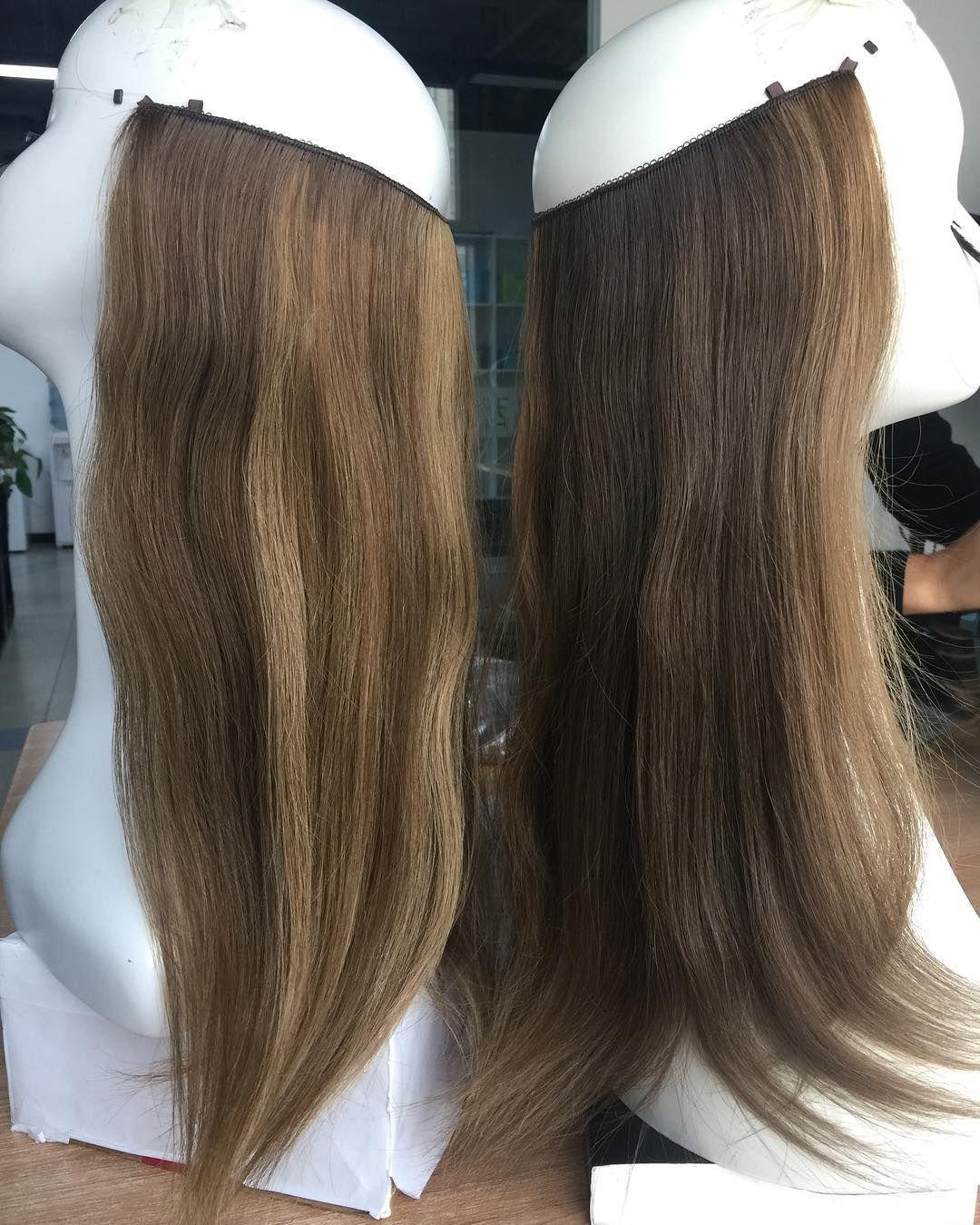 Flip in extensions on short hair