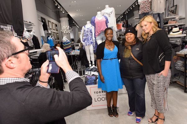 41ceb9d17dc Philomena Kwao and Georgina Burke attend the grand opening of the TORRID  flagship store on Chicago s State Street on April 8