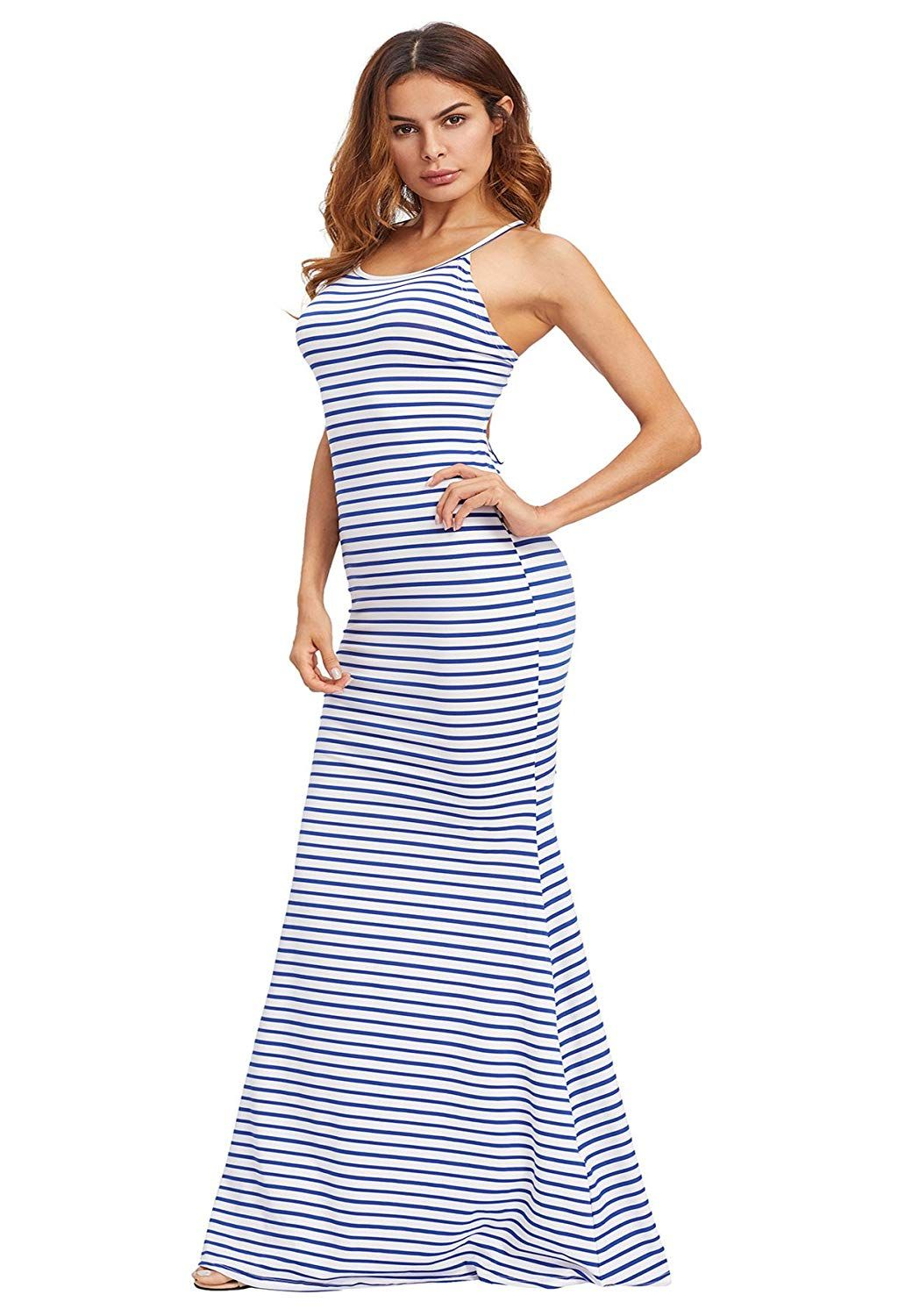 Shein Women S Strappy Backless Summer Evening Party Maxi Dress At Amazon Women S Clothing Store Maxi Dress Maxi Dress Party Dresses [ 1500 x 1032 Pixel ]