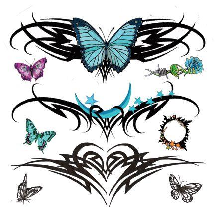 Colored Butterflies Tattoo Tattoo Hunter Lower Back Tattoo Designs Tribal Butterfly Tattoo Girl Back Tattoos