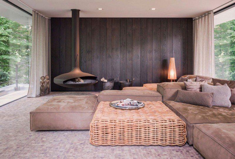 Wohnzimmre in Braun und Beige einrichten - Wohnidee Wohnzimmer - wohnideen wohnzimmer braun