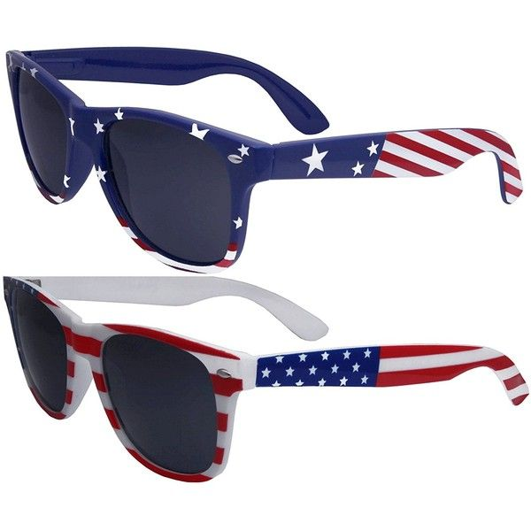 83e5c84bd67 2 Pairs Bulk American Sunglasses USA Flag Wayfarer Patriot ( 11) ❤ liked on Polyvore  featuring jewelry