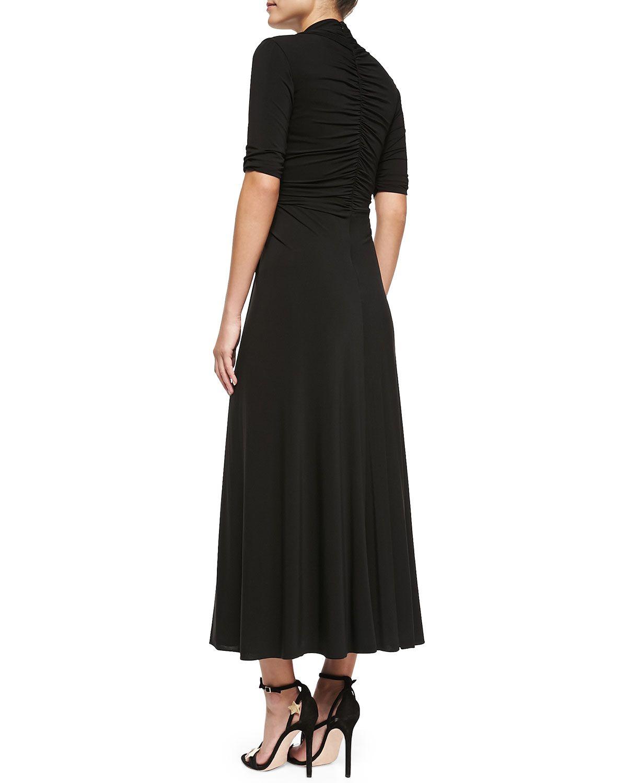 Jersey Dress with Crystal Waist, Black