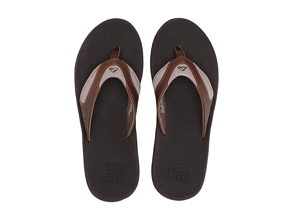 Reef Fanning Leather (BrownBrown 4) Men's Sandals. The